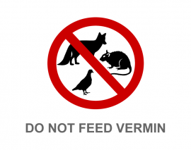 DO NOT FEED VERMIN