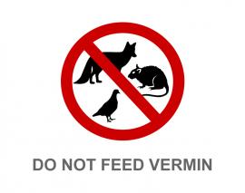 DO NOT FEED VERMIN
